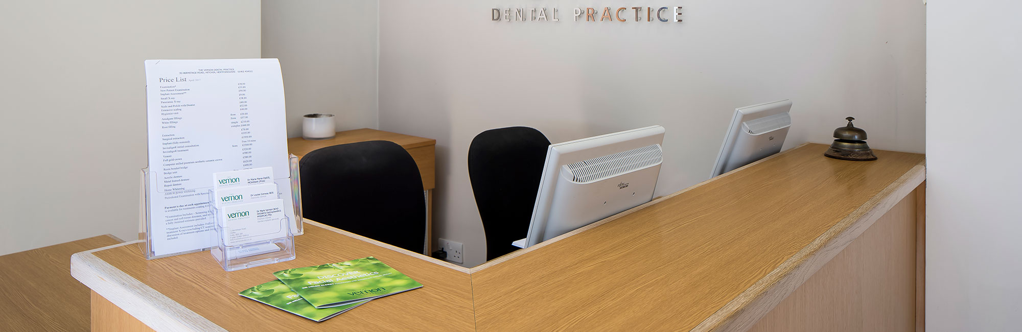 Contact Vernon Dental Practice Team Banner